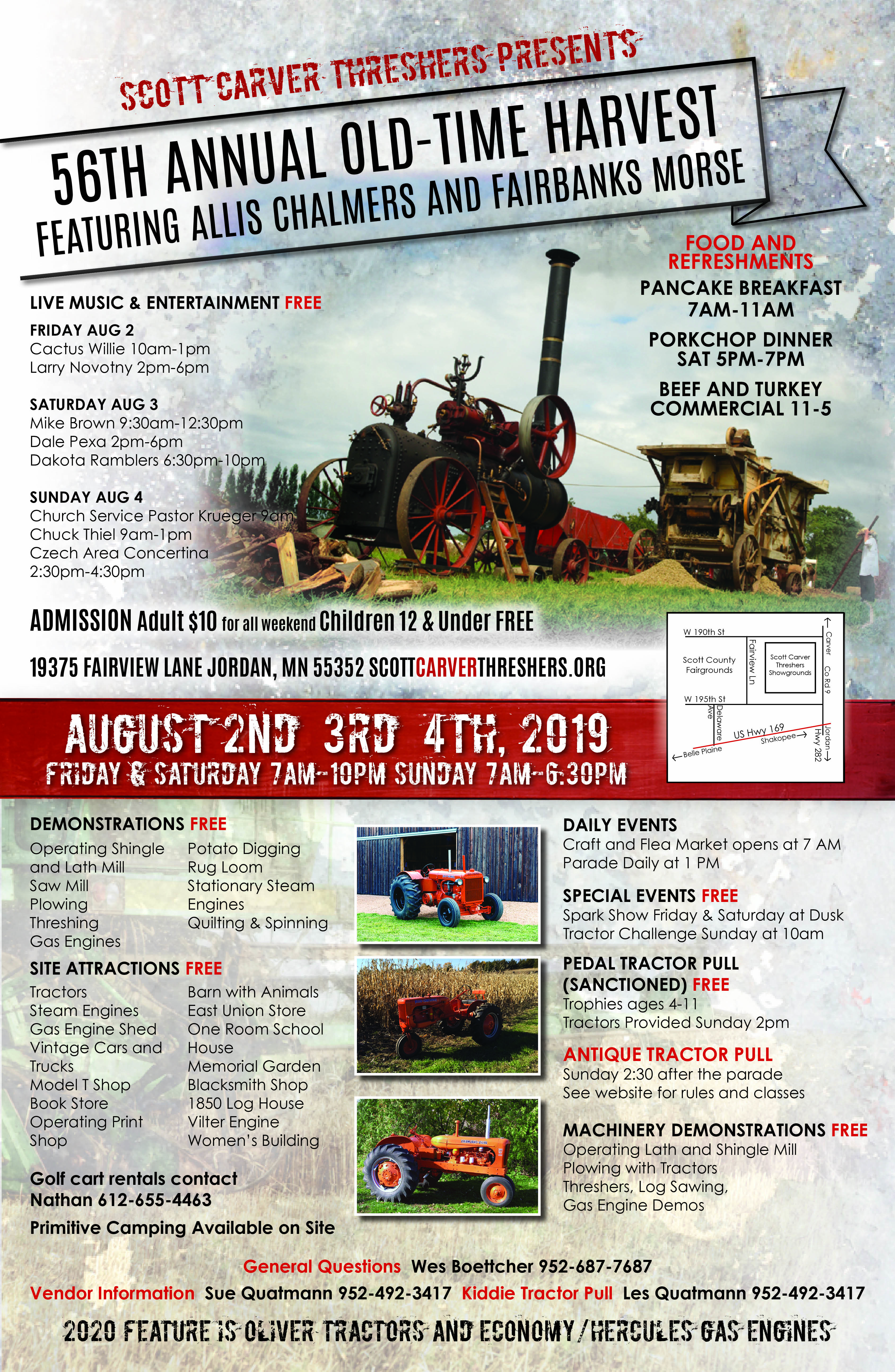 56th Annual Harvest Festival - August 2-4, 2019